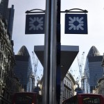 A branch of the Royal Bank of Scotland is seen in the City of London